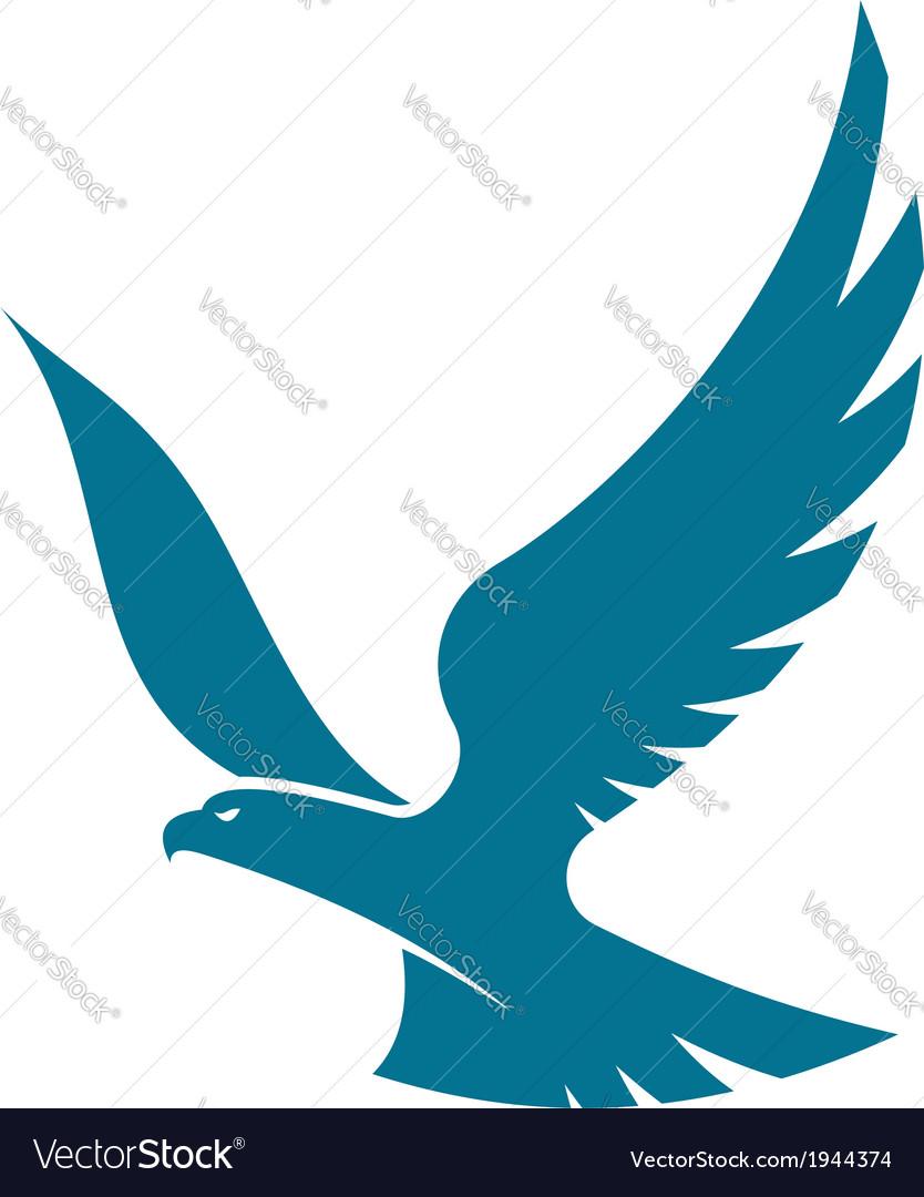 Graceful flying eagle vector image