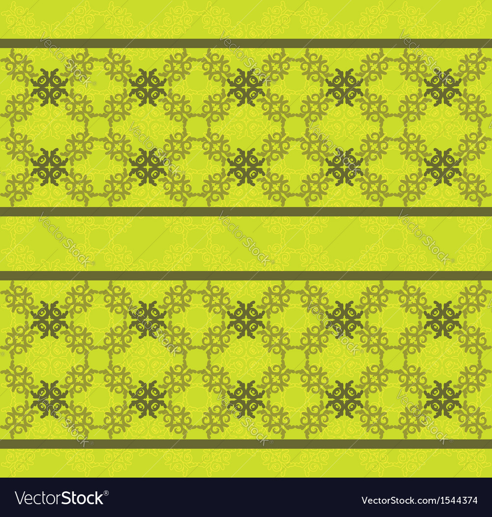 Green floral lace pattern
