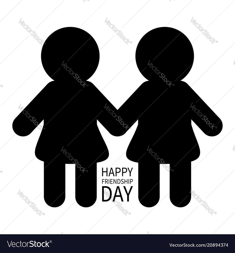 Happy friendship day two black woman female