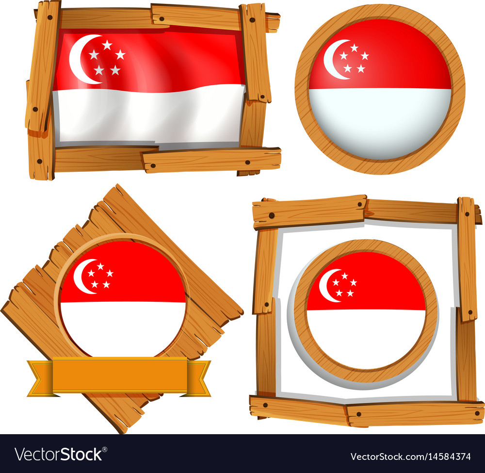 Icon design for flag of singapore