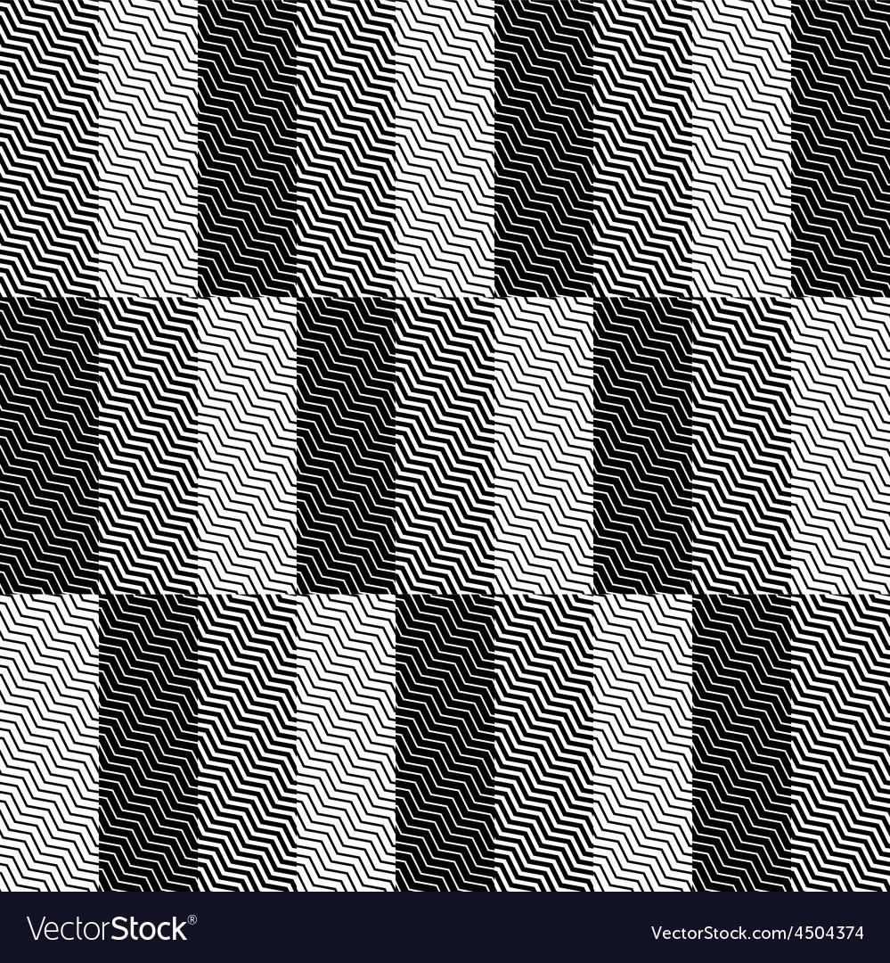 Op Art Design Zig Zag Checkered Seamless Pattern vector image