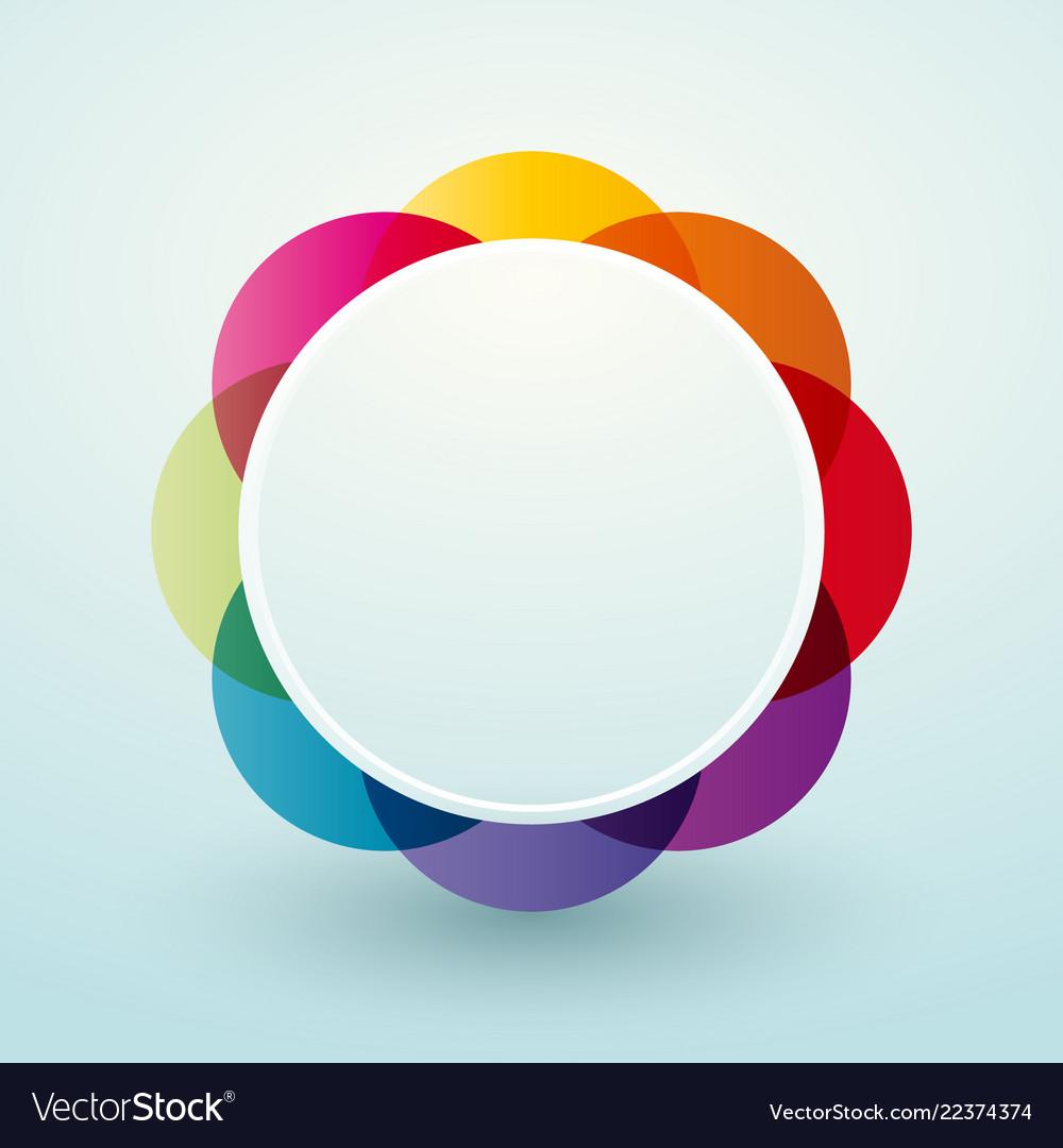 Simple colorful circular vignette