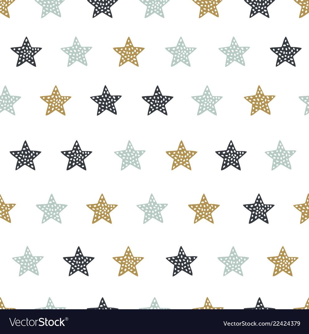 Childish seamless pattern with stars creative