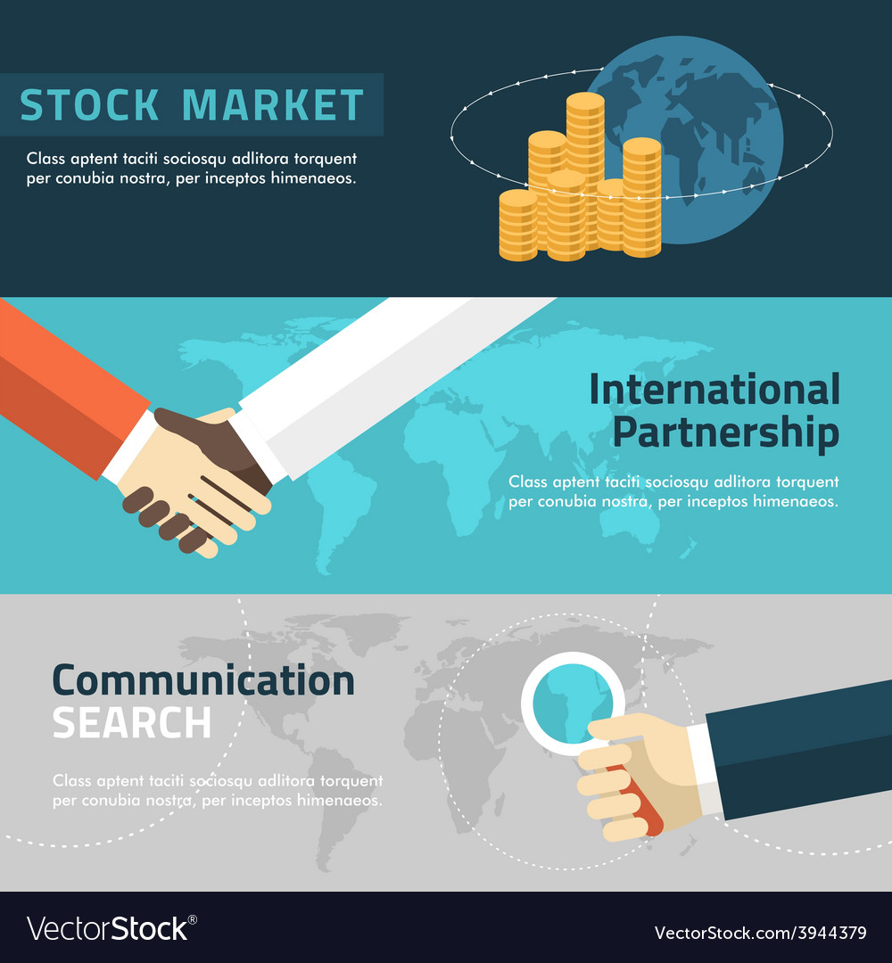 Flat design concept for marketing partnership vector image