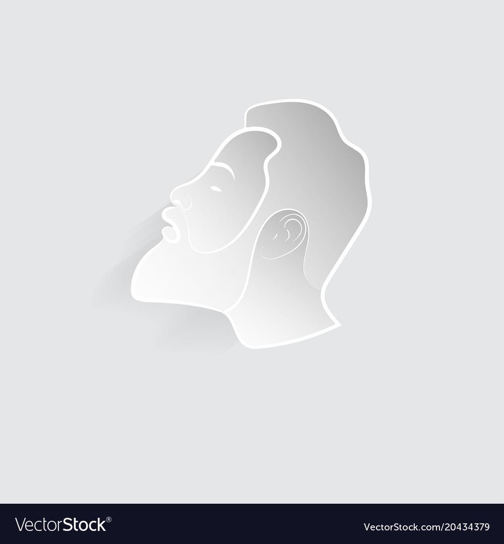 Head of a man vector image