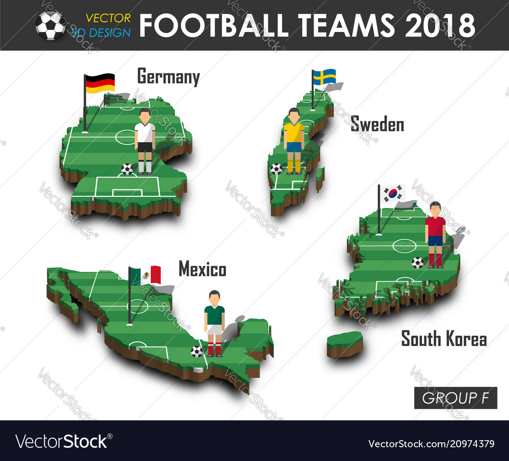 National soccer teams 2018 group f