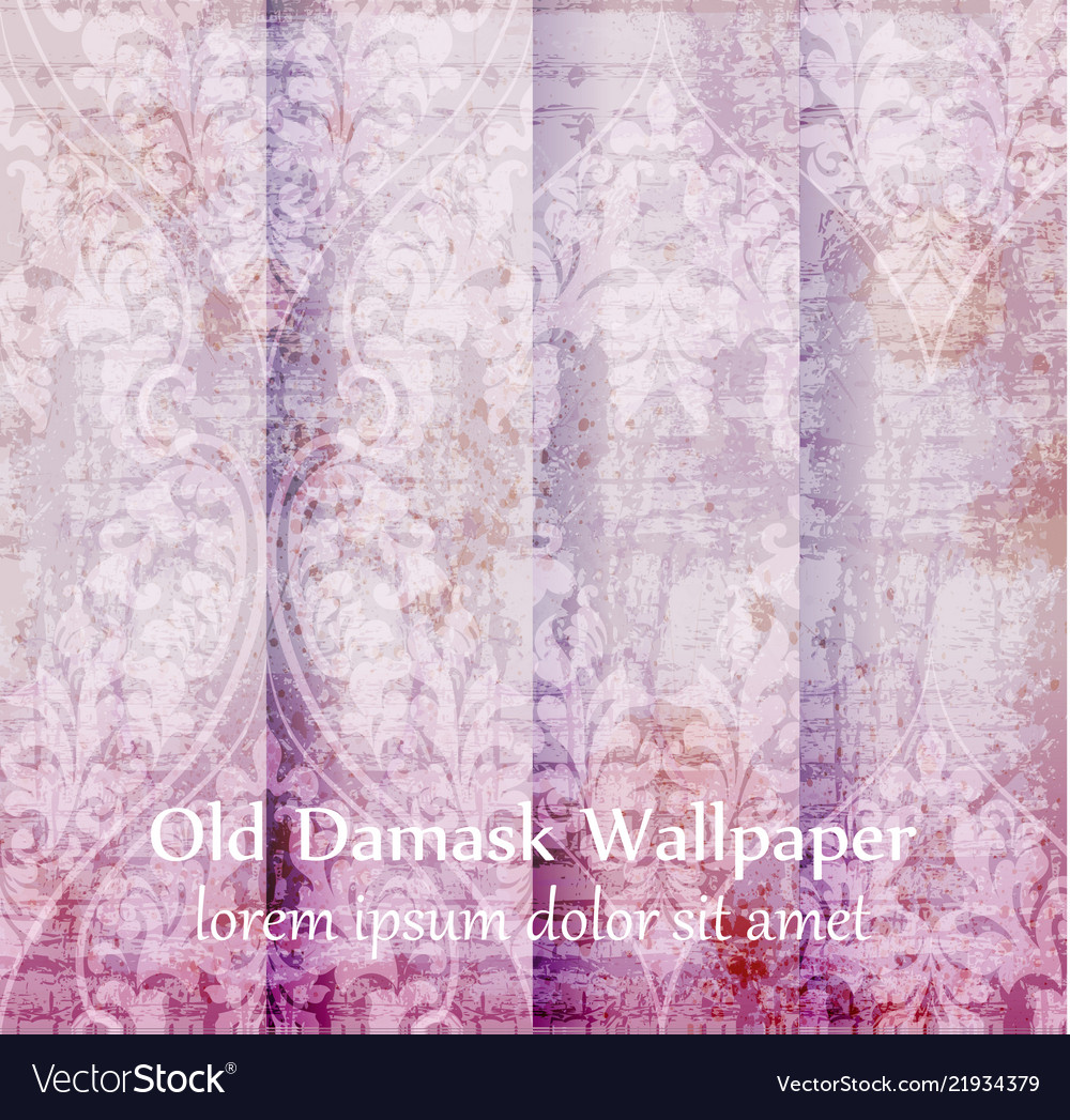 Old damask ornament set backgrounds