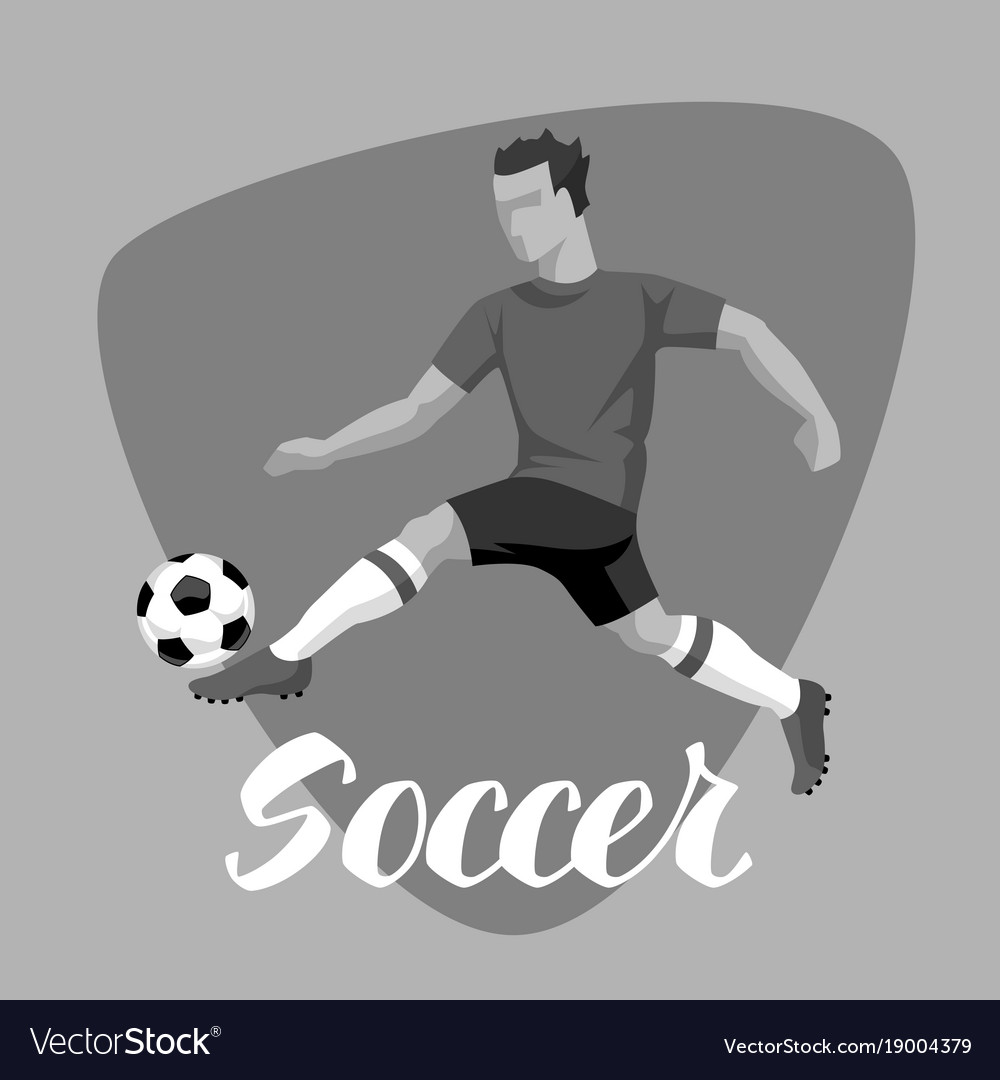 Soccer player with ball sports football