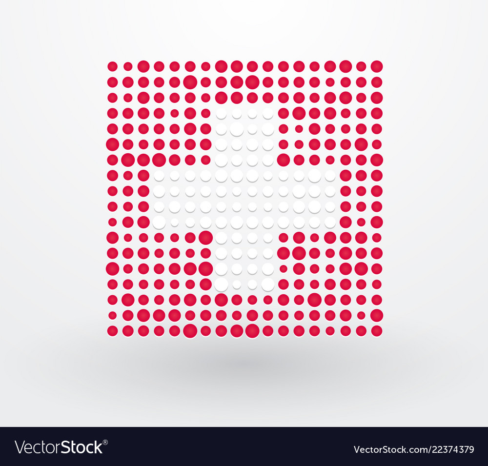Switzerland flag made up of dots