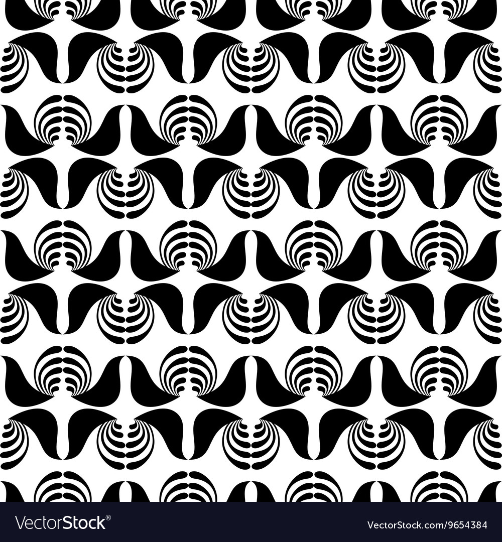 Abstract seamless monochrome pattern