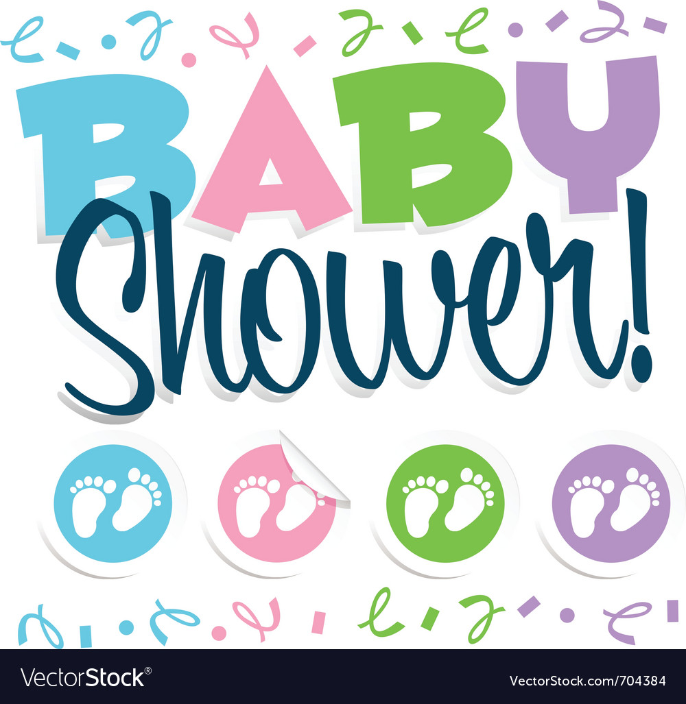 Baby Shower Royalty Free Vector Image Vectorstock