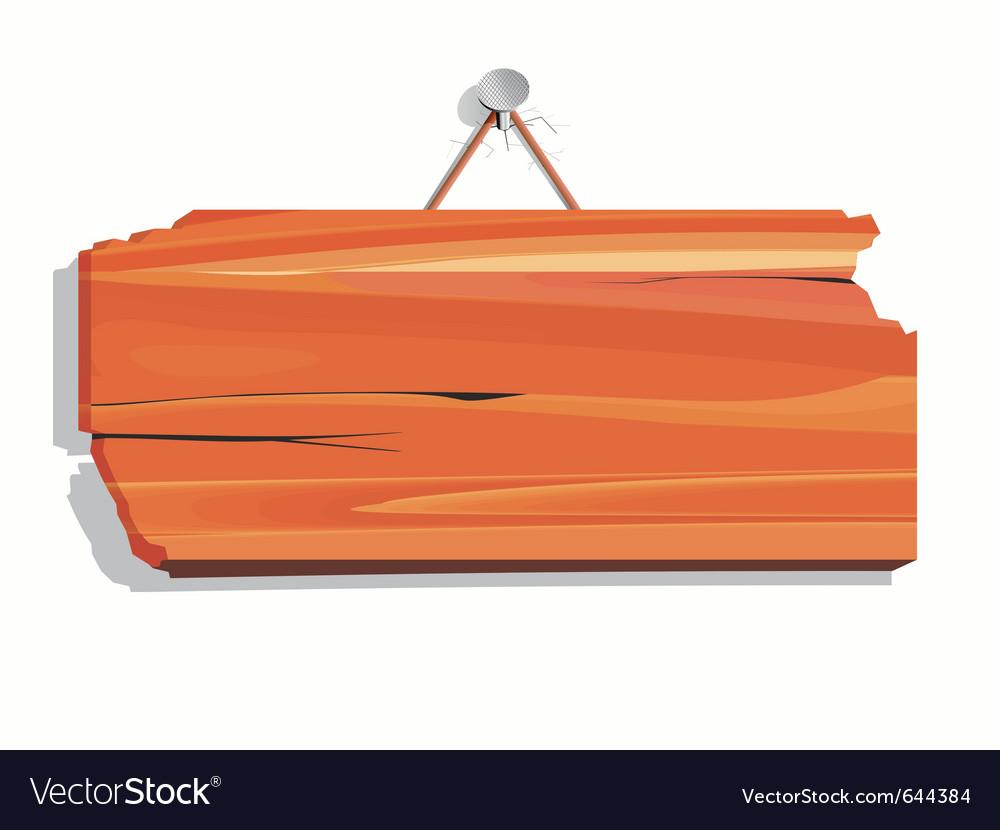 Blank wood board vector image