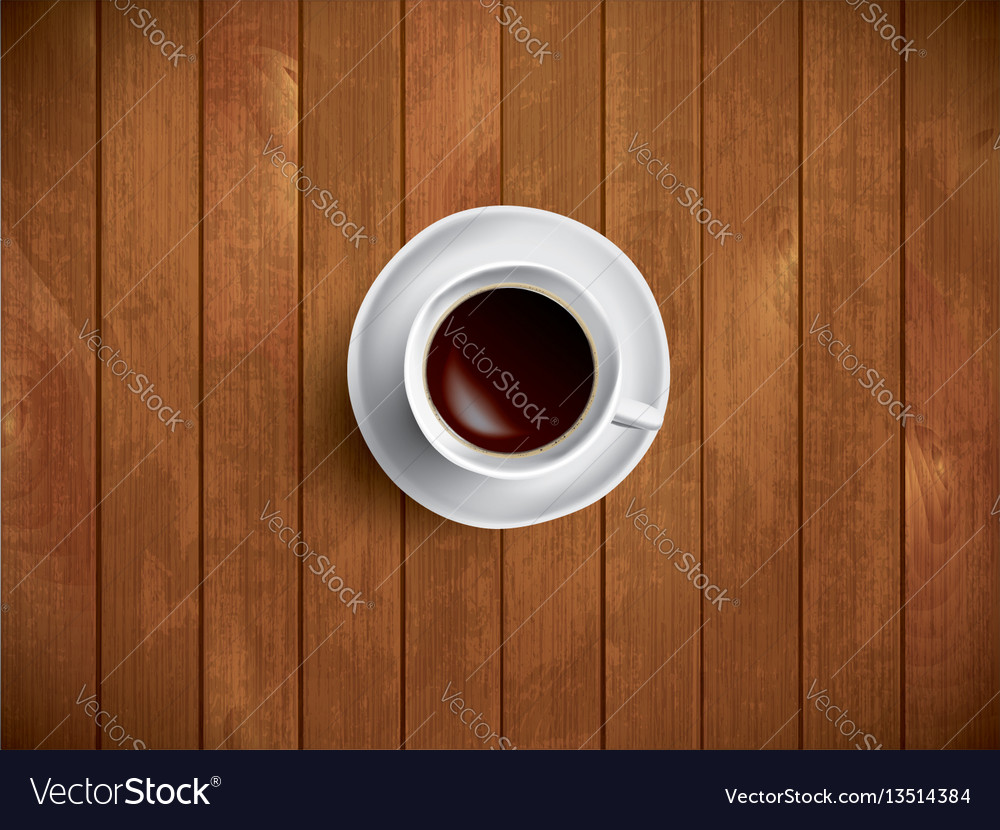 Coffe on the wooden table