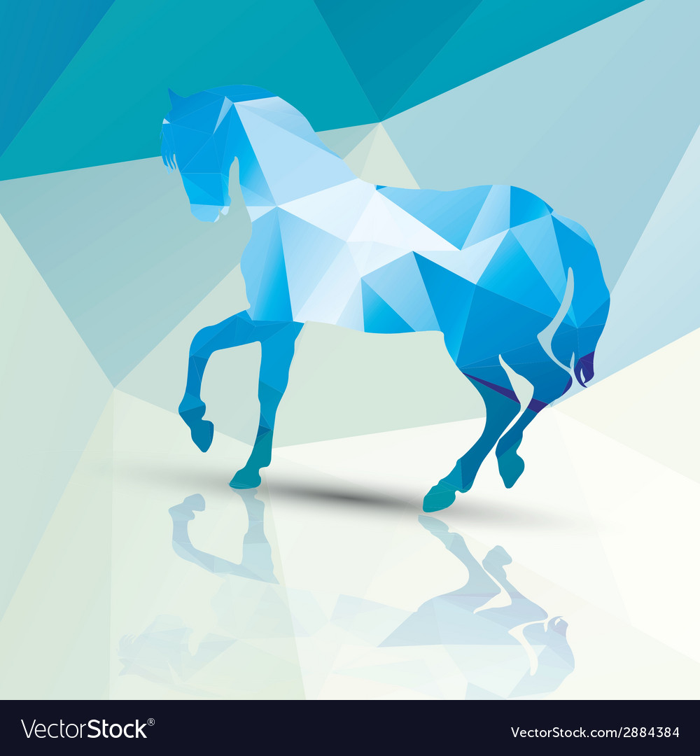 Geometric polygonal horse pattern design