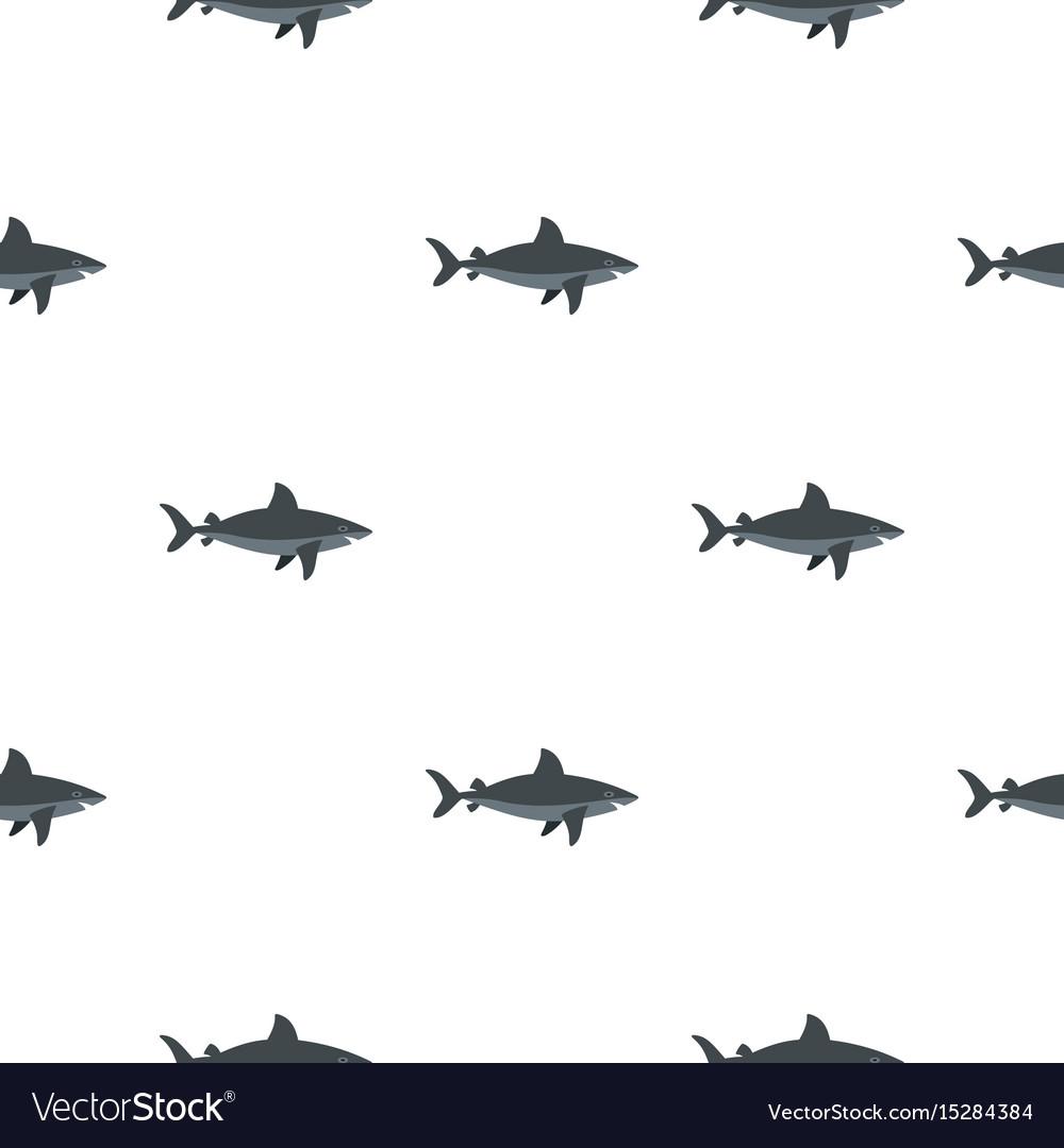 Grey shark fish pattern seamless vector image