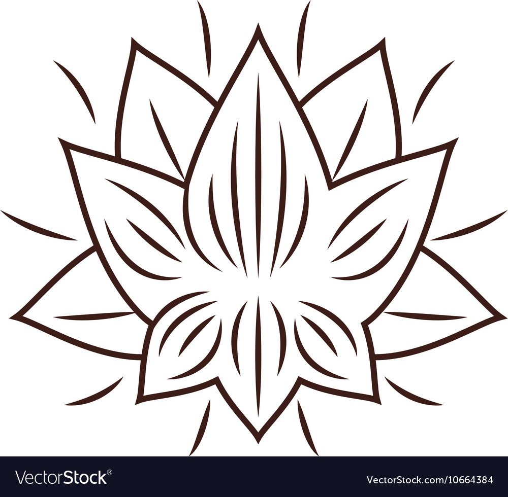 Isolated Lotus Flower Design Royalty Free Vector Image