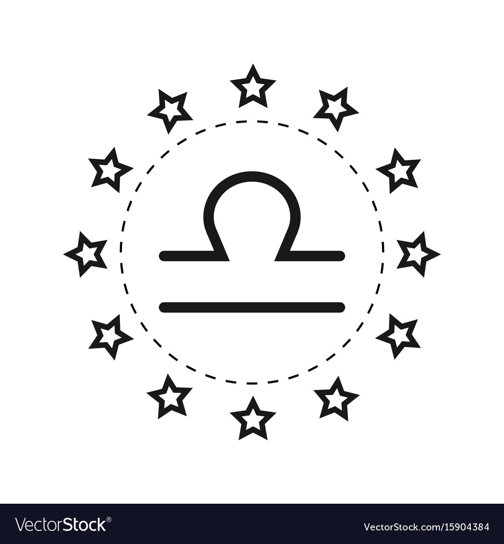 Libra Sign Of The Zodiac Flat Symbol Horoscope Vector Image