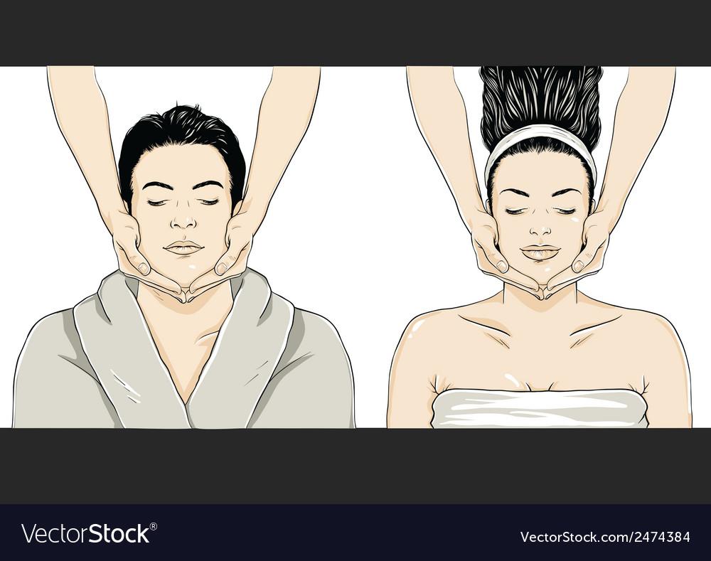 Massage - Man-Woman vector image