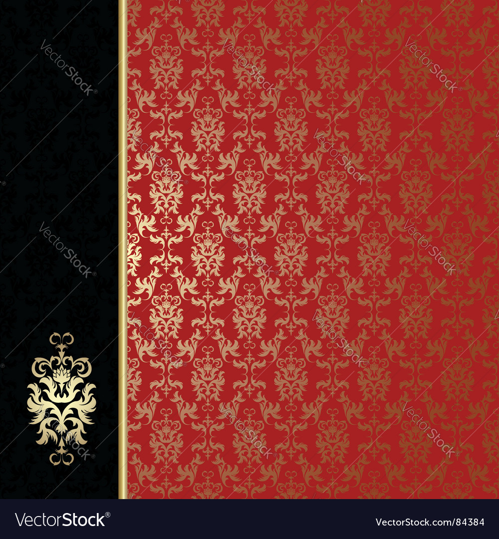 Regal background vector image