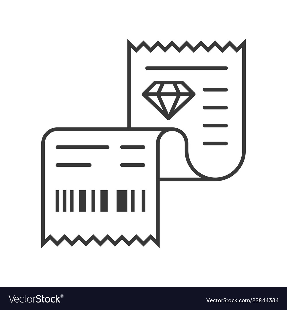 sales receipt of jewelry store jewelry related vector image