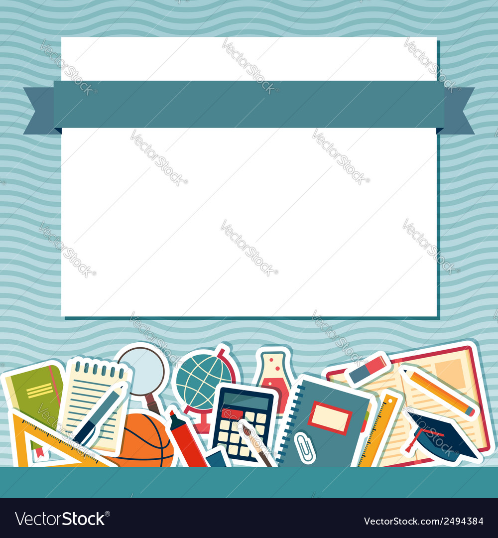 School background with place for text vector image