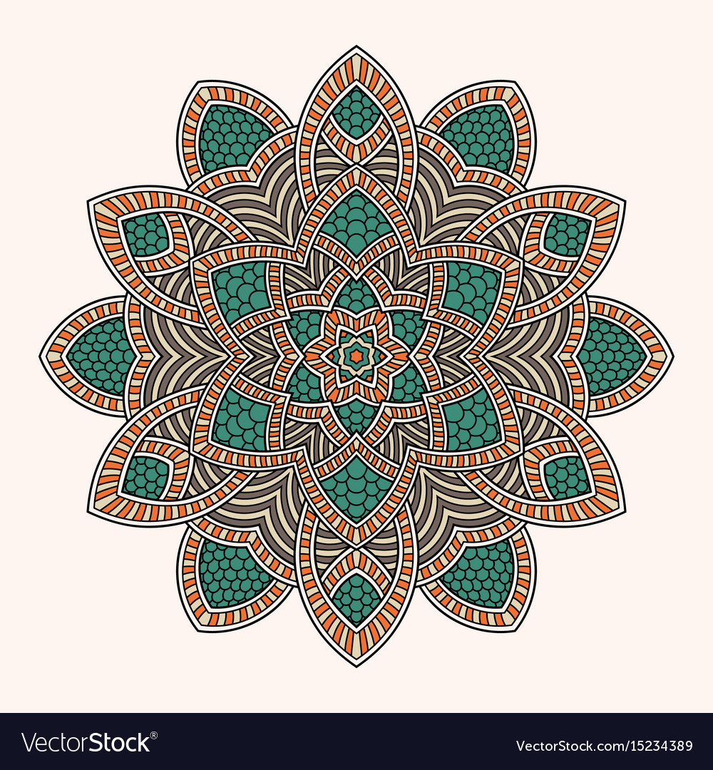 Abstract round ornament circle mandala pattern