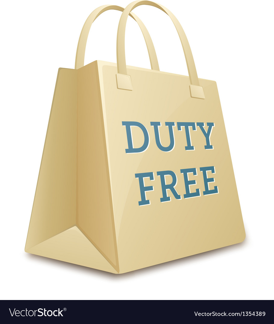 Duty Free Shopping Bag Royalty Free Vector Image