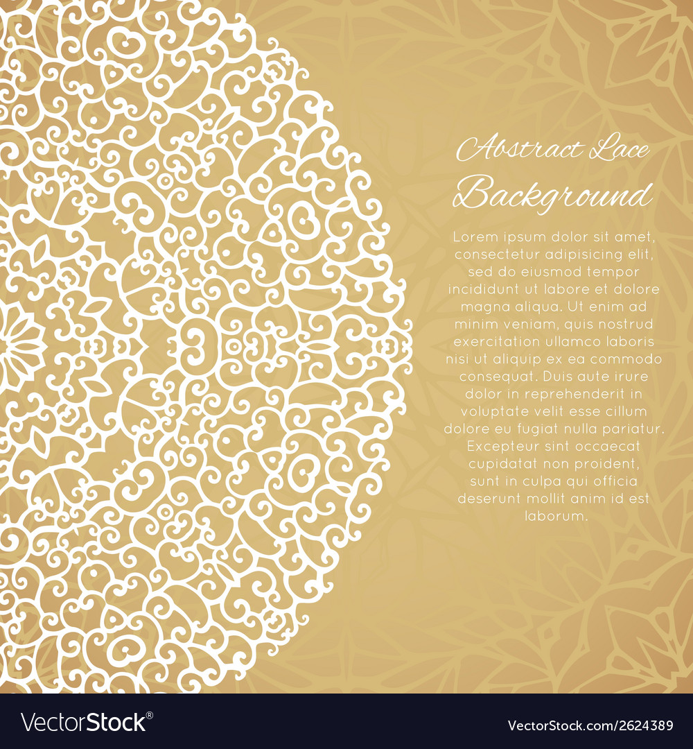 Ethnic background with mandala lace ornament