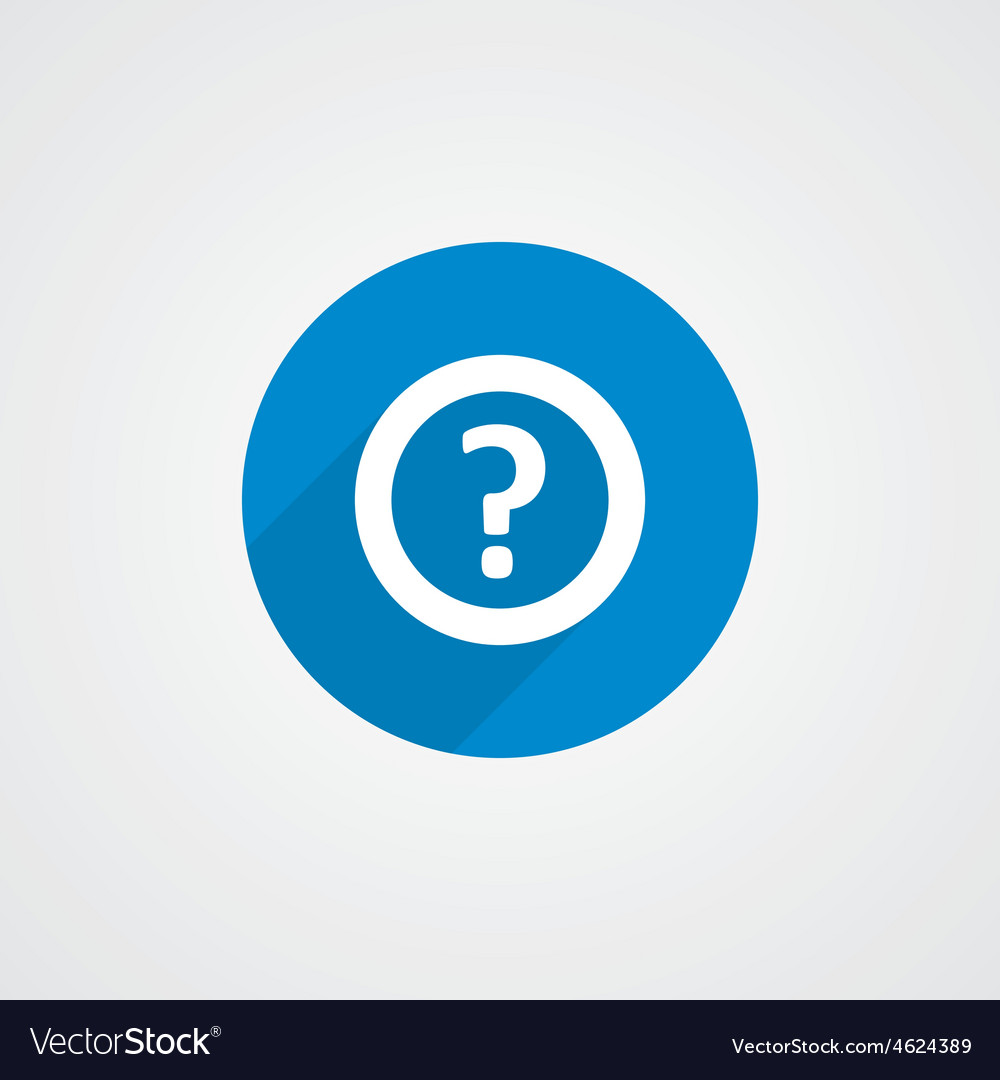 Flat blue help icon vector image