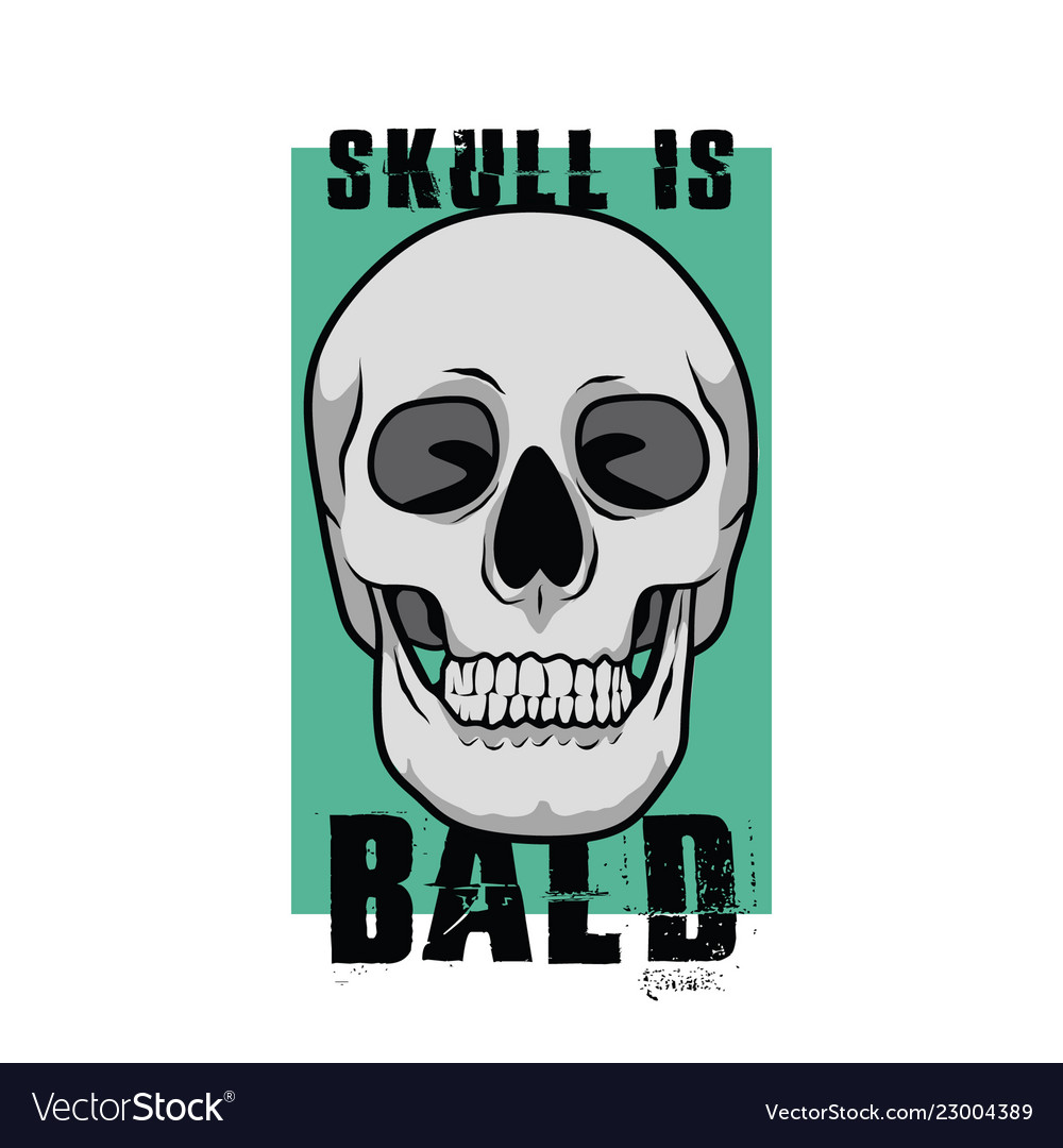 Skull is bald for poster or graphic your goods