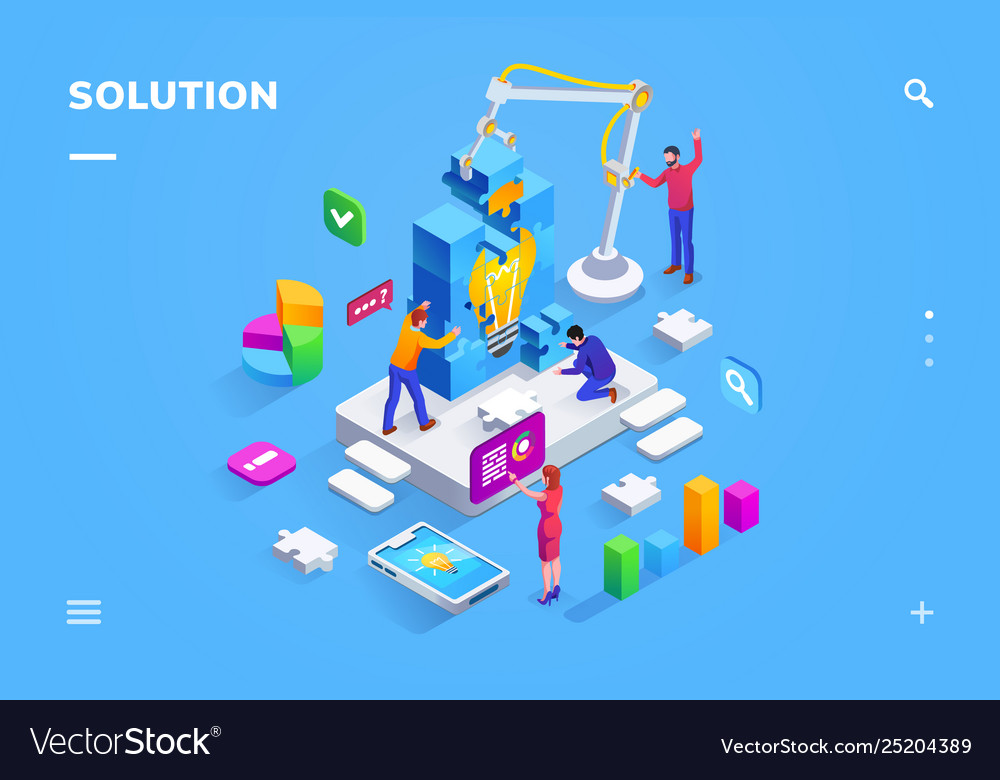 Teamwork people at finding business solution