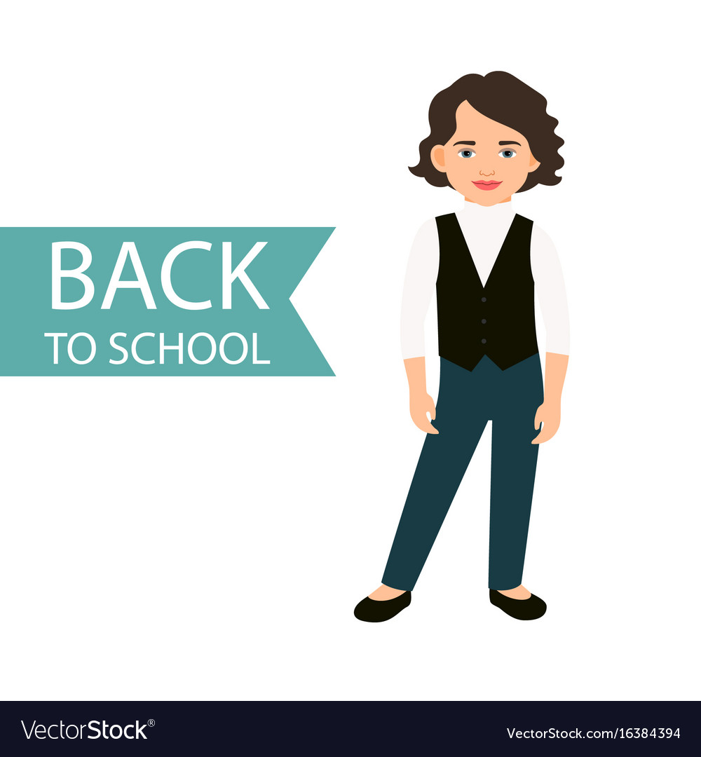 Back to school little girl icon