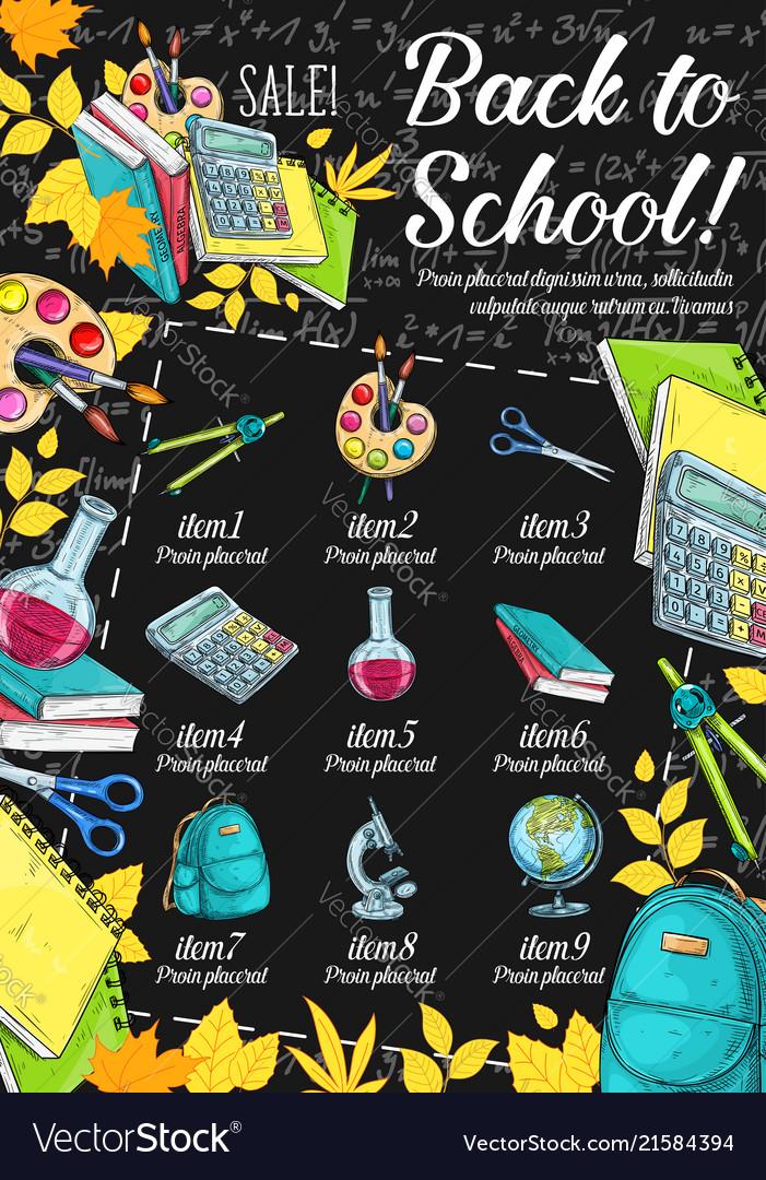 Back to school special offer banner sale design