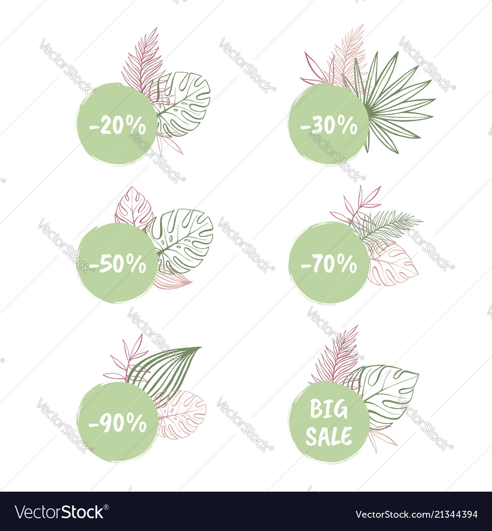 Big sale and discount tropical stickers