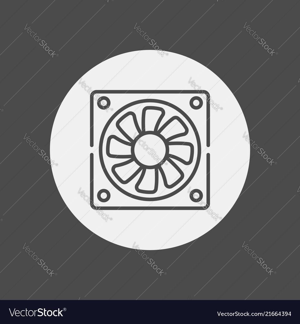 Fan icon sign symbol