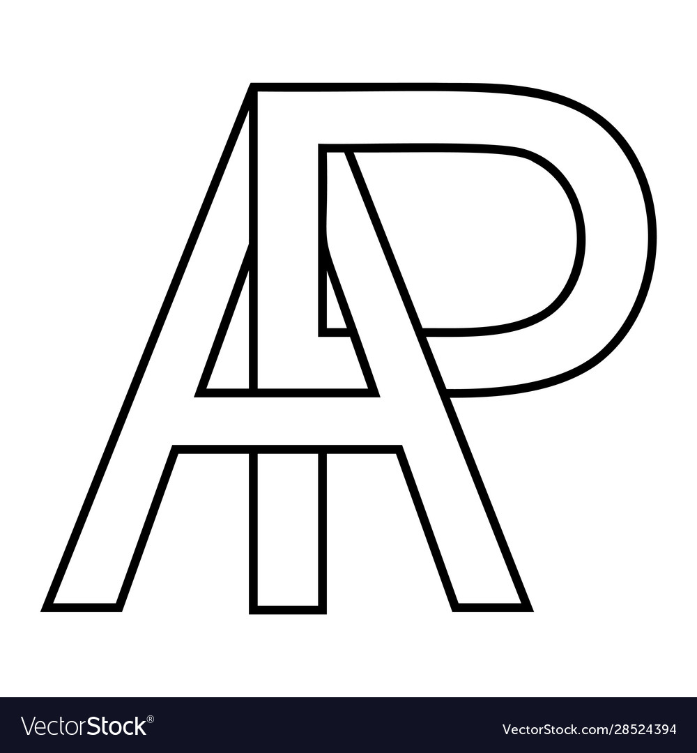 Logo sign ap pa icon sign interlaced letters ap