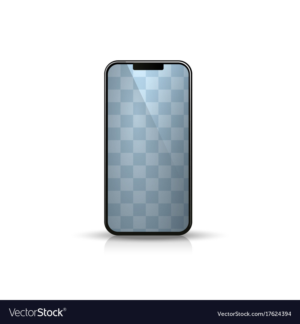 Phone object on the white background vector image