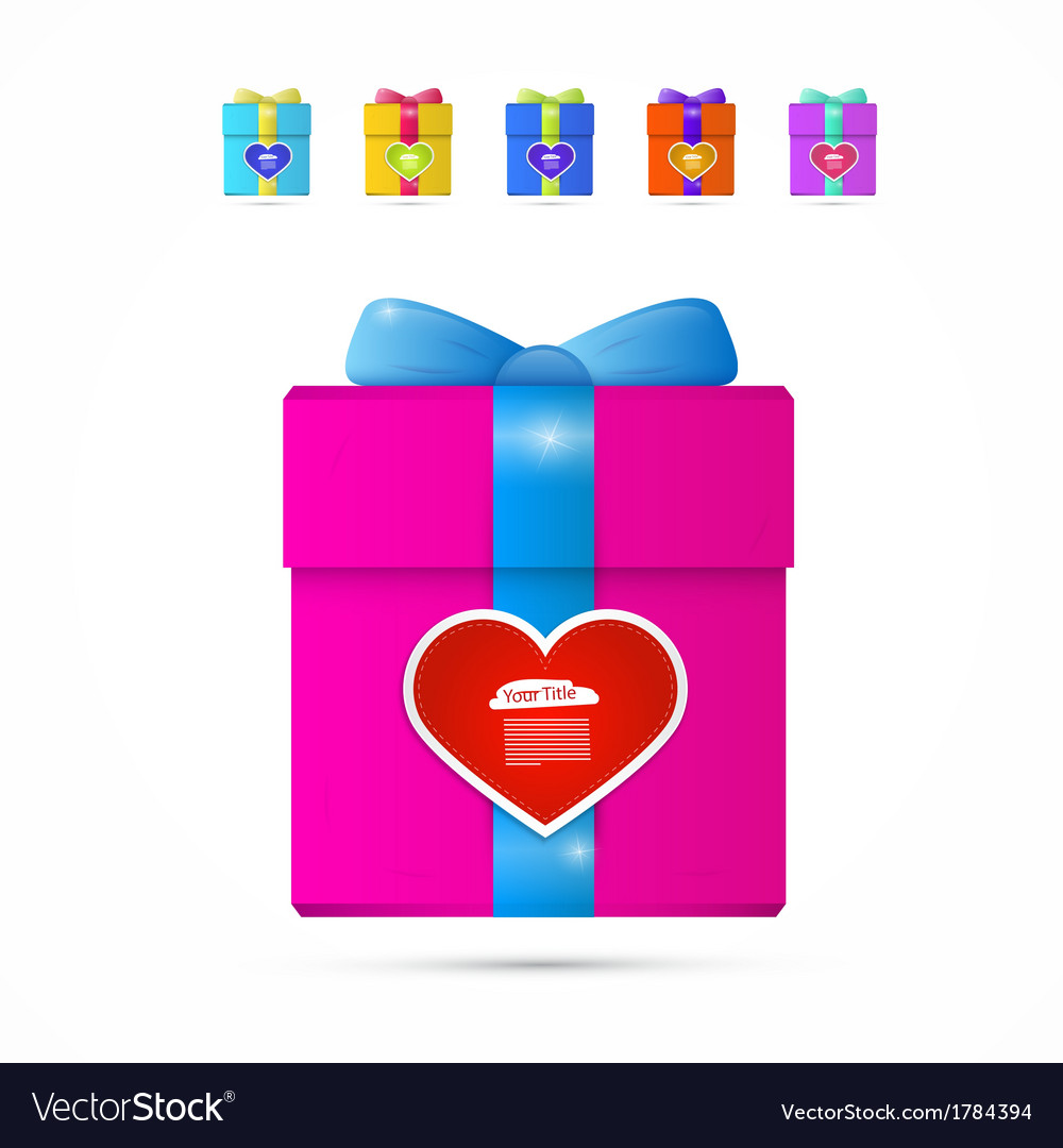 Present Box Gift Box with Heart