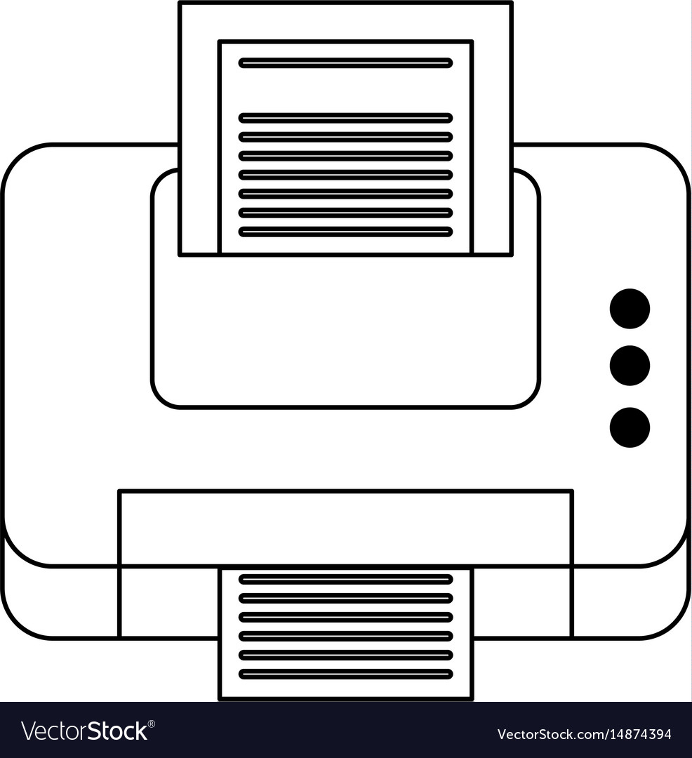 Printer printing icon image