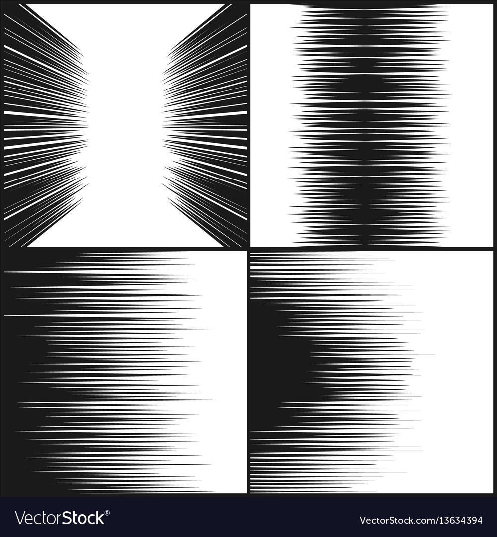 Speed line comic book texture horizontal motion