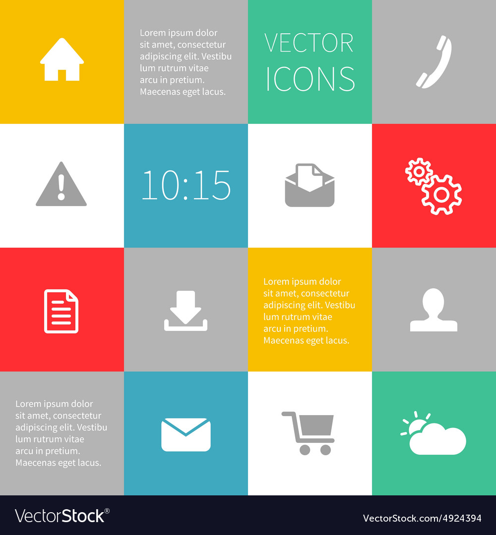 Squares background infographics with icons