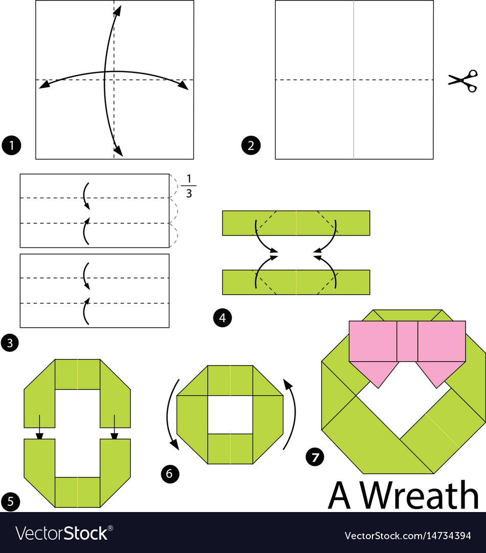 Origami Football Diagram Trusted Wiring Diagrams Nut Simple Kusudama Step By Instructions How To Make Vector Image Bat