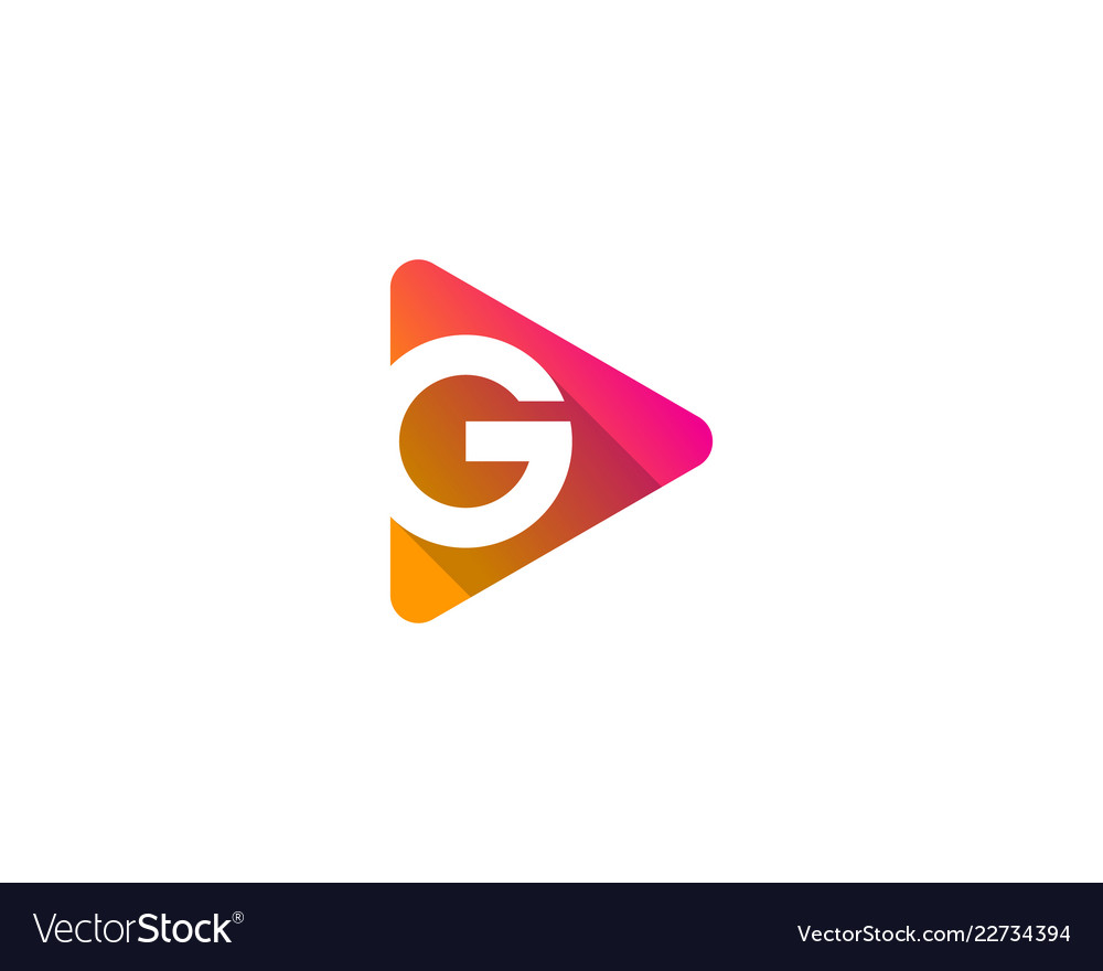 Video letter g logo icon design Royalty Free Vector Image