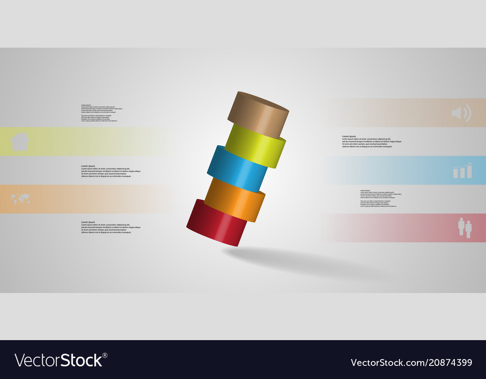 3d infographic template with cylinder