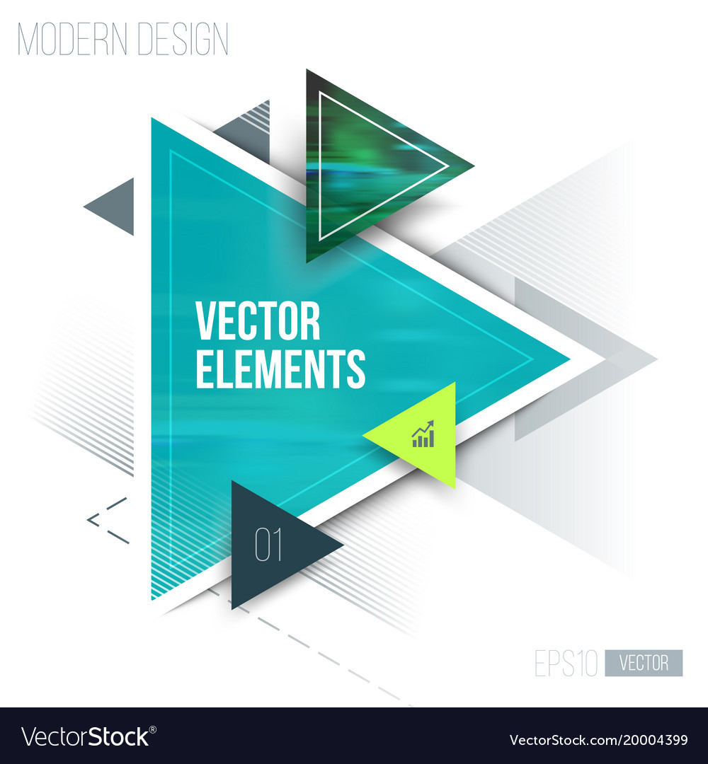 Abstract geometric triangle pattern and vector image