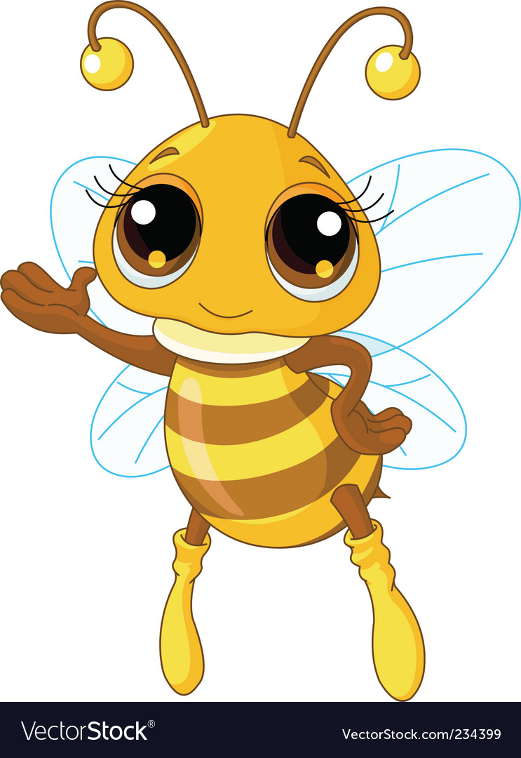 cute bee royalty free vector image vectorstock rh vectorstock com bee vector drawing bee vector disease