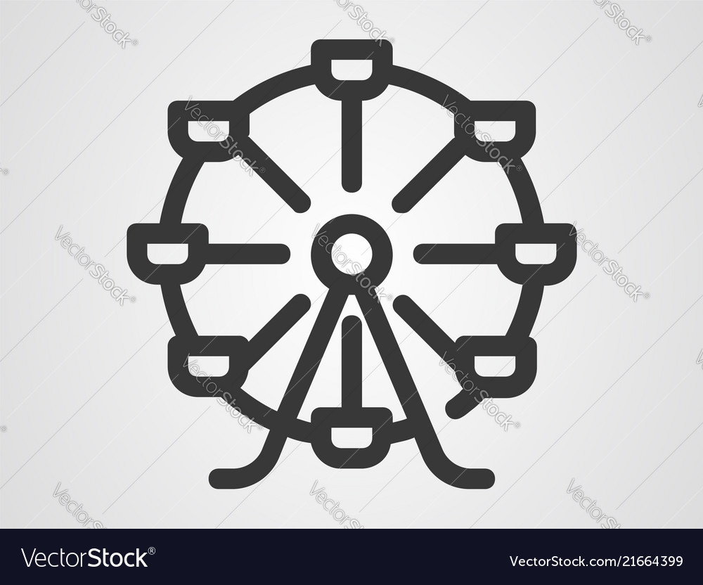 Ferris wheel icon sign symbol