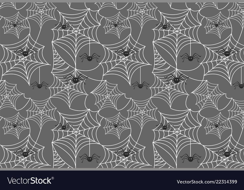 Halloween spiderweb background with spiders