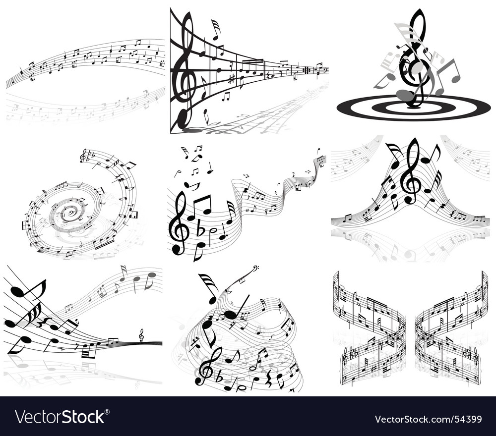 Musical note backgrounds vector image
