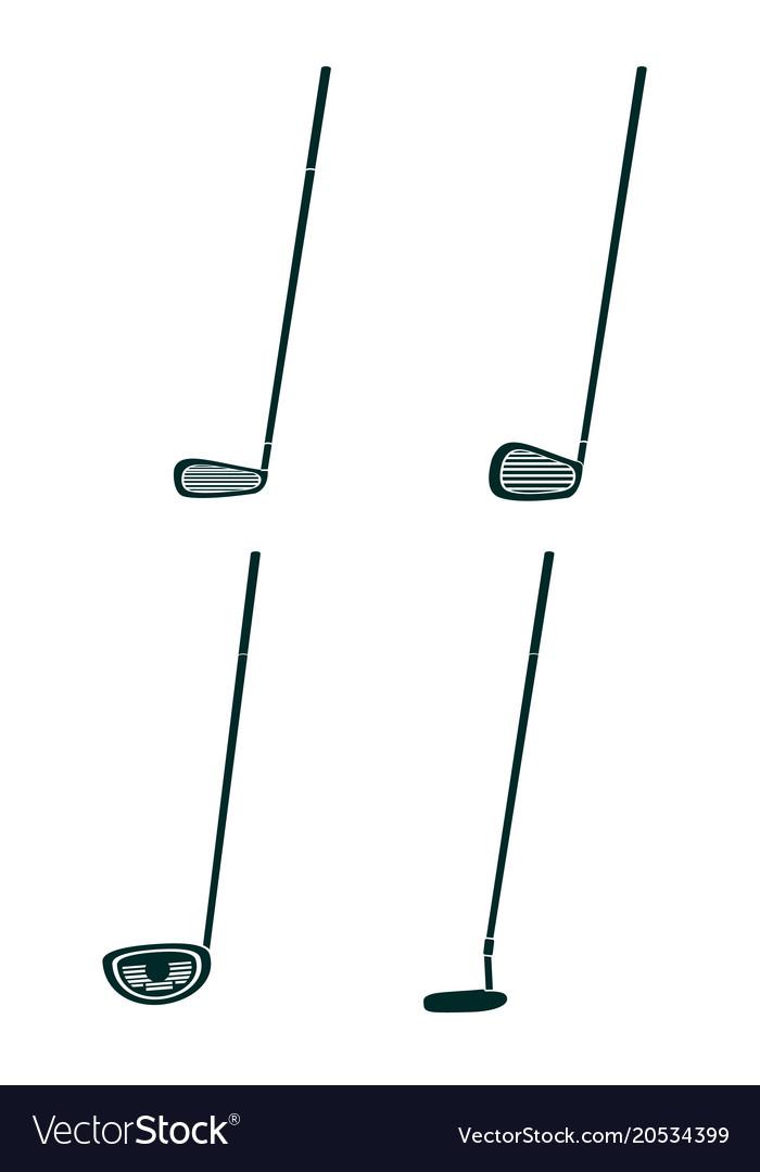 Set og golf clubs